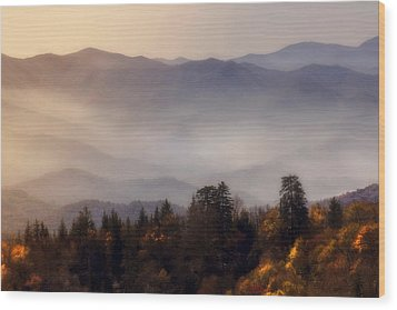 Wood Print featuring the photograph The Great Smoky Mountains by Ellen Heaverlo