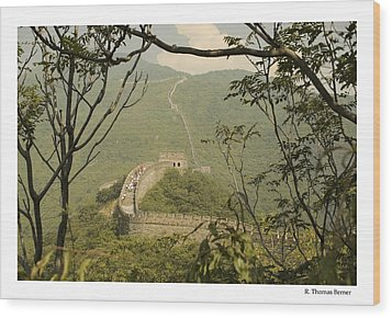 The Great Wall Wood Print by R Thomas Berner