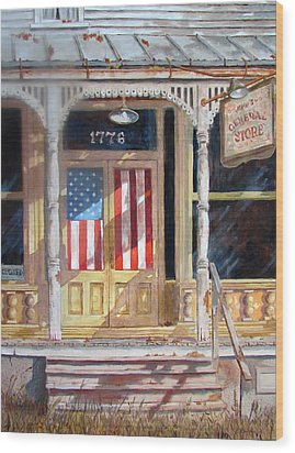Wood Print featuring the painting The Greatest Generation by Tony Caviston