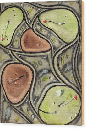 Wood Print featuring the painting The Green Fees Golfing Art Print by Tommervik