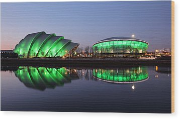 Wood Print featuring the photograph The Green Hour by Grant Glendinning