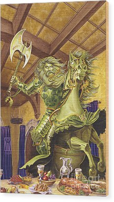 The Green Knight Wood Print by Melissa A Benson
