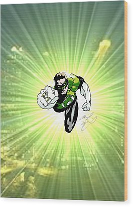 The Green Lantern Wood Print by Michael Dijamco