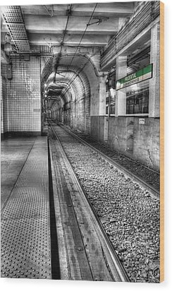 The Green Line Wood Print by JC Findley