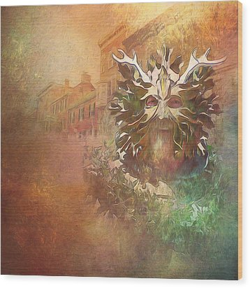 The Green Man Cometh Wood Print