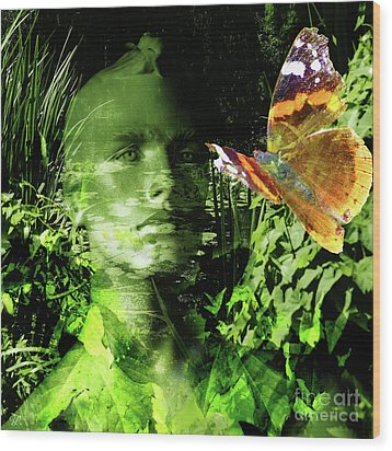 Wood Print featuring the photograph The Green Man by LemonArt Photography