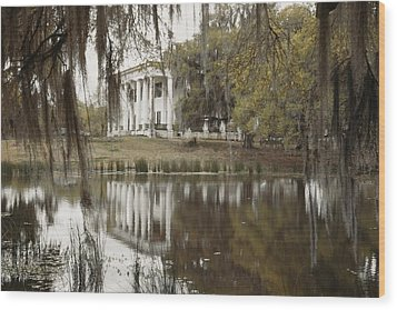 The Greenwoood Plantation Home Wood Print by J. Baylor Roberts