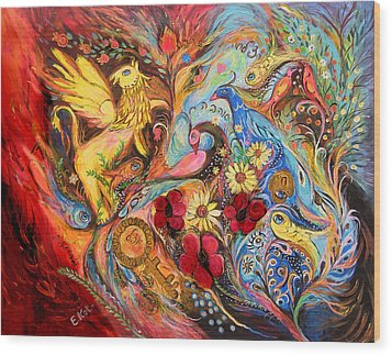 The Griffin Kingdom Wood Print by Elena Kotliarker