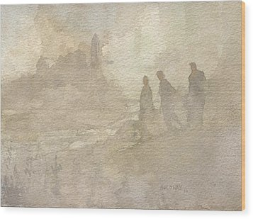 The Group Comes Out Of The Wilderness Wood Print