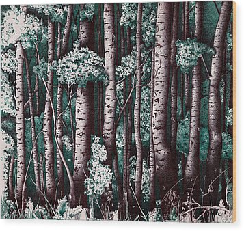 The Grove At Sand Creek Wood Print by Teddy Campagna
