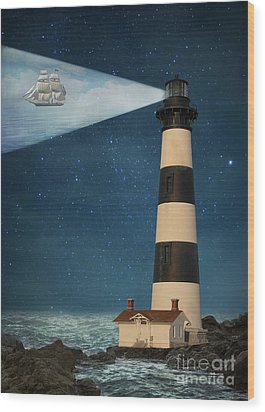 Wood Print featuring the photograph The Guiding Light by Juli Scalzi