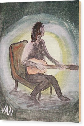 The Guitar Player Wood Print