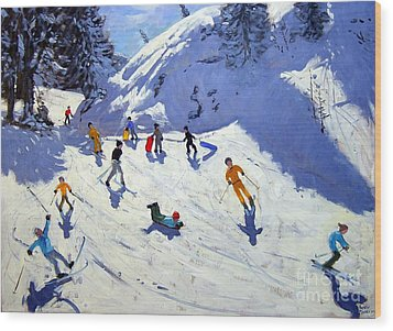 The Gully Wood Print by Andrew Macara
