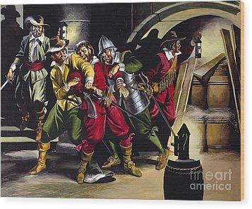 The Gunpowder Plot Wood Print by Ron Embleton