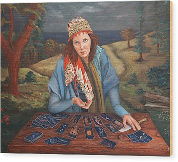 The Gypsy Fortune Teller Wood Print by Enzie Shahmiri