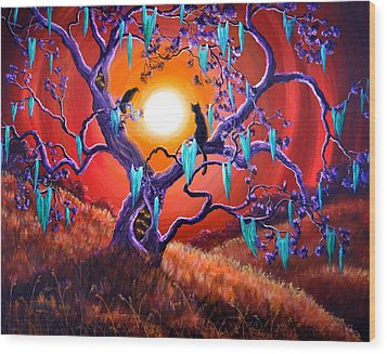 The Halloween Tree Wood Print by Laura Iverson