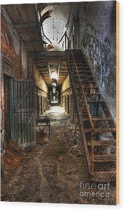 The Hallway Of Broken Dreams - Eastern State Penitentiary - Lee Dos Santos Wood Print by Lee Dos Santos