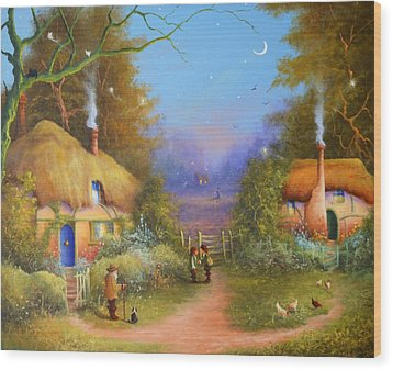 The Hamlet Of Gnarl Mid Summers Eve Wood Print