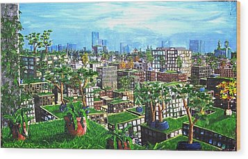 The Hanging Gardens. Wood Print by Samuel Miller