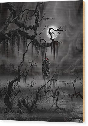 The Hangman Wood Print by James Christopher Hill