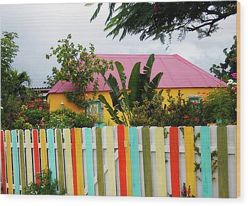 Wood Print featuring the photograph The Happy House, Island Of Curacao by Kurt Van Wagner
