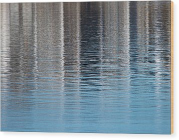 Wood Print featuring the photograph The Harbor Reflects by Karol Livote