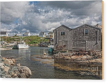 The Harbour Wood Print