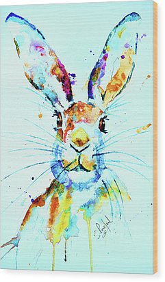 Wood Print featuring the painting The Hare by Steven Ponsford