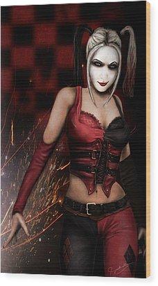 The Harley Quinn Wood Print