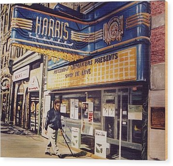 The Harris Theater Wood Print by James Guentner
