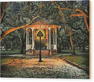 The Haunted Gazebo Wood Print