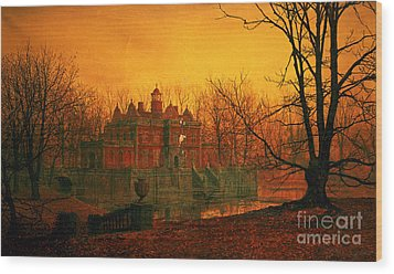 The Haunted House Wood Print by John Atkinson Grimshaw