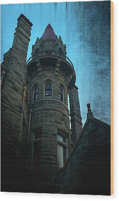 The Haunted Tower Wood Print