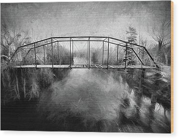 Wood Print featuring the digital art The Haunting by JC Findley