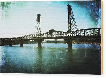 The Hawthorne Bridge Wood Print by Cathie Tyler