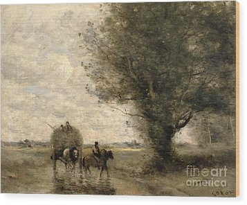 The Haycart Wood Print