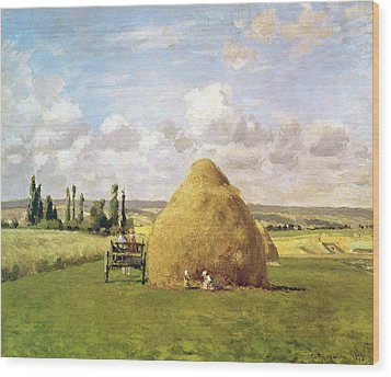 The Haystack Wood Print by Camille Pissarro