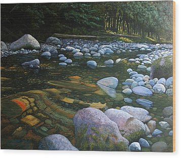 The Heart Of Quartz Creek Wood Print by Ron Smothers