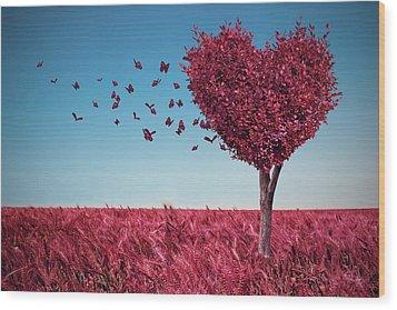 The Heart Tree Wood Print