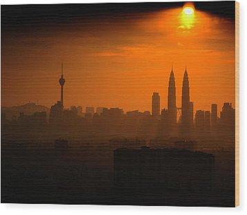 The Heat Wood Print