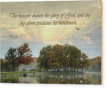 Wood Print featuring the photograph The Heavenly Morning Card by Ann Bridges