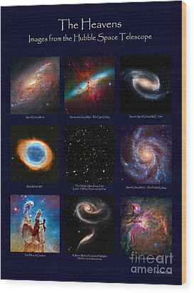 The Heavens - Images From The Hubble Space Telescope Wood Print by David Perry Lawrence