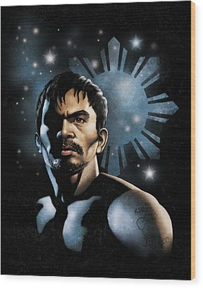 The Heavens Shine On Pacquiao Wood Print by Elvin Dantes