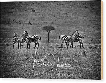 Wood Print featuring the photograph The Herd by Karen Lewis