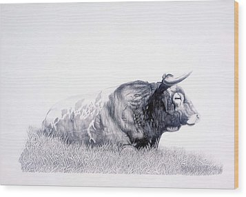 The Herdmaster Wood Print by Howard Dubois