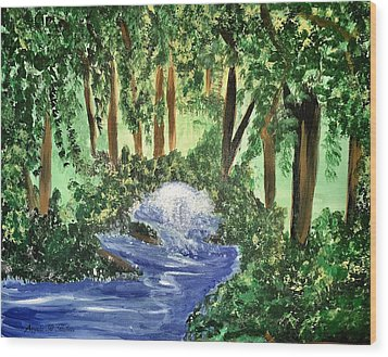 The Hidden Forest Wood Print by Angela Holmes