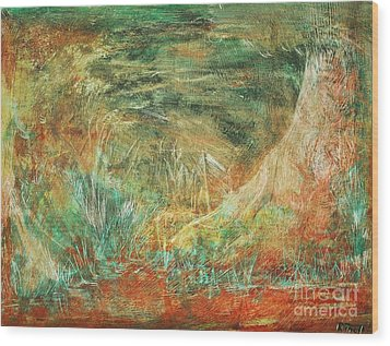 The Hidden Forest Wood Print by Reb Frost
