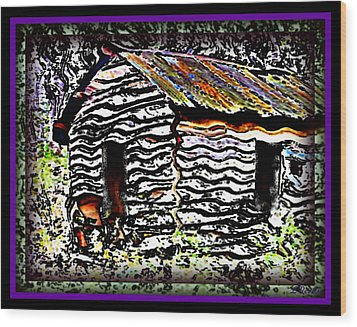 The Hideaway Wood Print by Leslie Revels Andrews