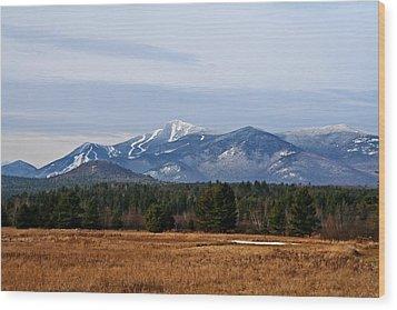 The High Peaks Wood Print by Heather Allen