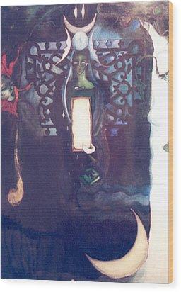 The High Priestess Wood Print by Erika Brown